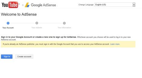 Masalah tidak bisa mengaitkan channel Youtube ke Adsense